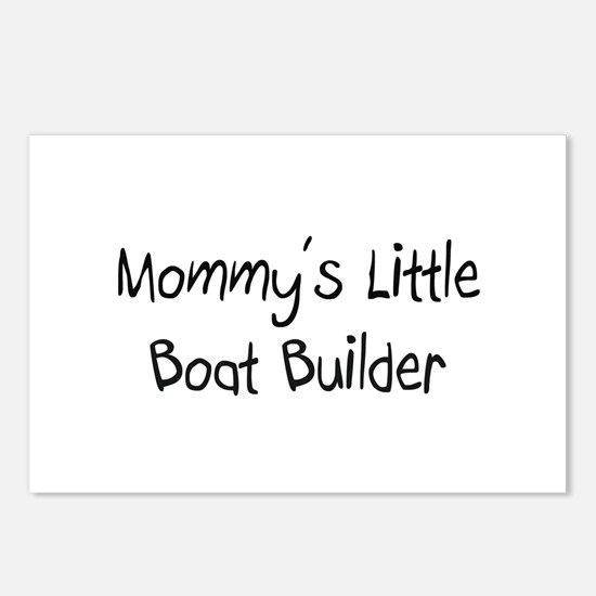 Mommy's Little Boat Builder Postcards (Package of