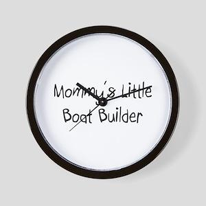 Mommy's Little Boat Builder Wall Clock