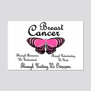 Butterfly Awareness 1 (Breast Cancer) Mini Poster