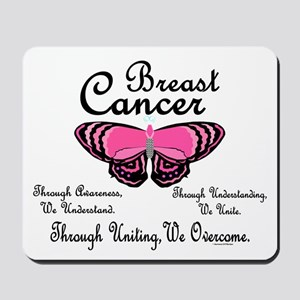 Butterfly Awareness 1 (Breast Cancer) Mousepad