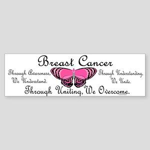 Butterfly Awareness 1 (Breast Cancer) Sticker (Bum