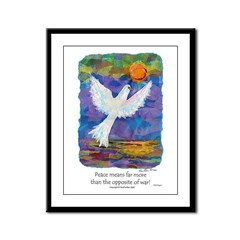 What Peace Means - Framed Panel Print