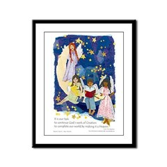 Complete Our World - Framed Panel Print