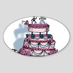 The Wedding Cake Oval Sticker