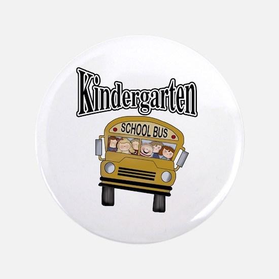 """School Bus Kindergarten 3.5"""" Button"""