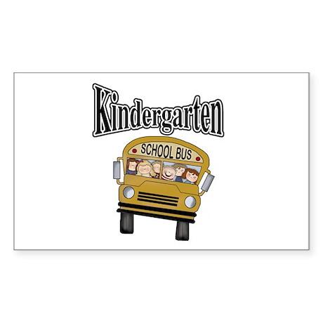 School Bus Kindergarten Rectangle Sticker 10 pk)