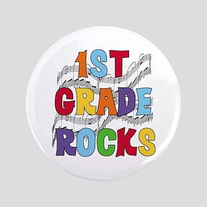 """Bright Colors 1st Grade 3.5"""" Button"""