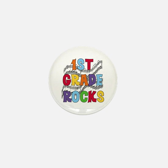 Bright Colors 1st Grade Mini Button