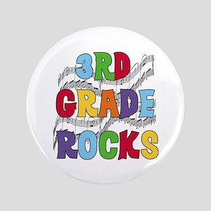 """Bright Colors 3rd Grade 3.5"""" Button"""
