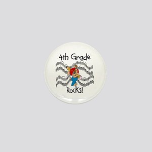 4th Grade Rocks Mini Button