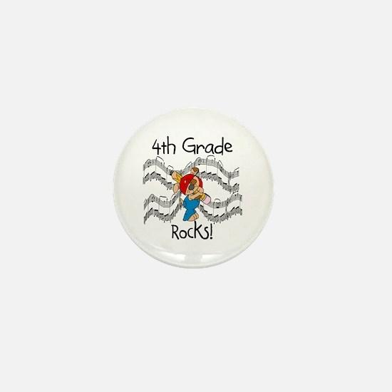 4th Grade Rocks Mini Button