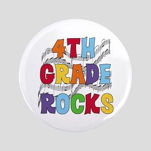 """Bright Colors 4th Grade 3.5"""" Button"""