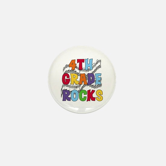 Bright Colors 4th Grade Mini Button
