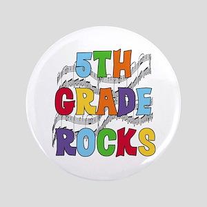 """Bright Colors 5th Grade 3.5"""" Button"""
