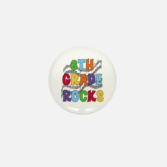 Bright Colors 6th Grade Mini Button