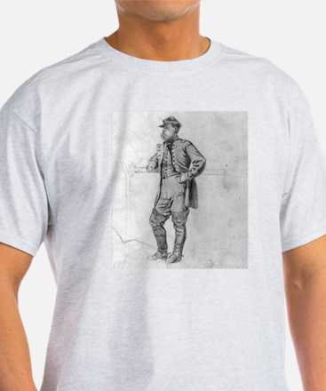 Infantry Colonel 1863 Ash Grey T-Shirt