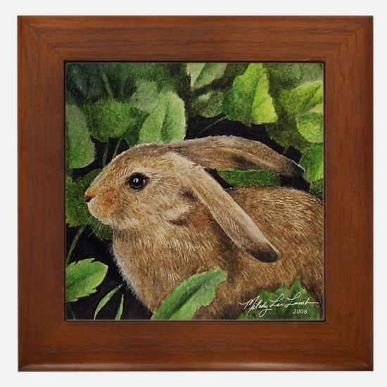 Bunny Rabbit Framed Tile