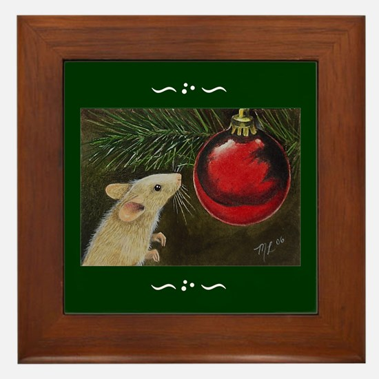 Holiday Mouse Framed Tile