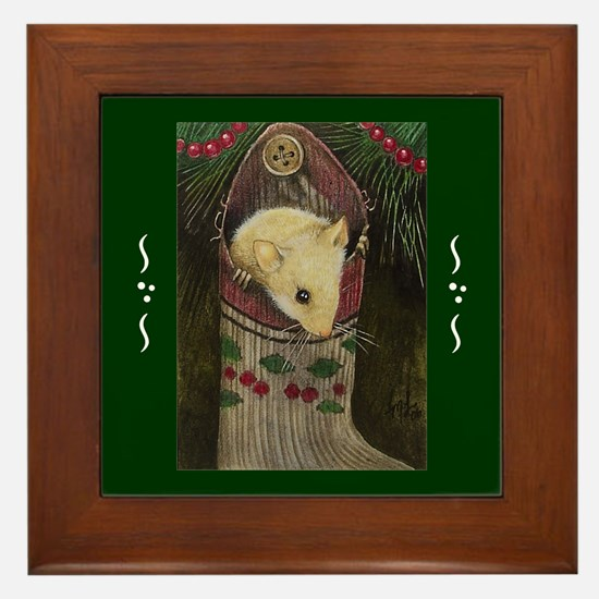 Christmas Mouse Framed Tile