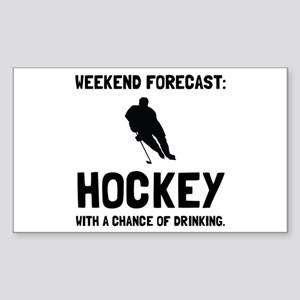 Weekend Forecast Hockey Sticker