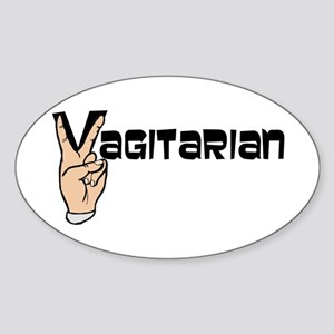 Vagitarian Oval Sticker