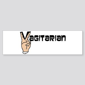 Vagitarian Bumper Sticker