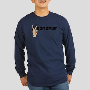 Vagitarian Long Sleeve Dark T-Shirt