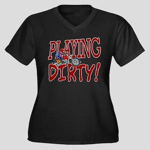 Playing Dirty Dirt Bike Women's Plus Size V-Neck D
