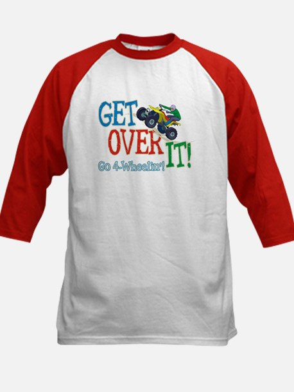 Get Over It - 4 Wheeling Kids Baseball Jersey