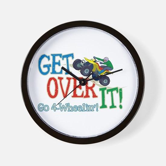 Get Over It - 4 Wheeling Wall Clock