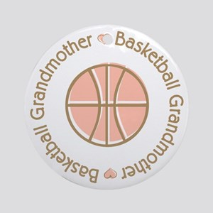 Basketball Grandmother Ornament (Round)