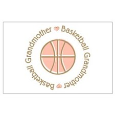 Basketball Grandmother Large Poster