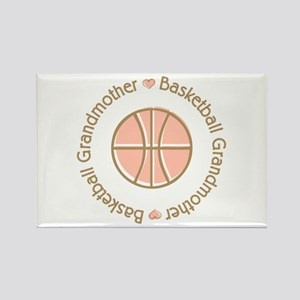 Basketball Grandmother Rectangle Magnet