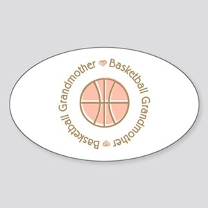 Basketball Grandmother Oval Sticker