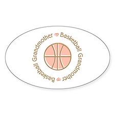 Basketball Grandmother Oval Sticker