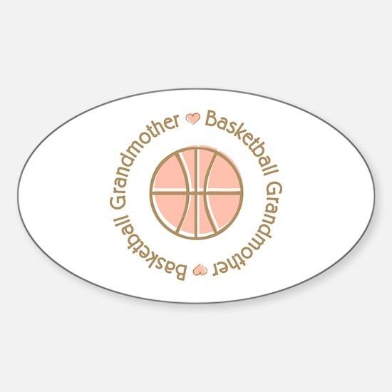 Basketball Grandmother Oval Decal