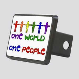 One World One People Rectangular Hitch Cover