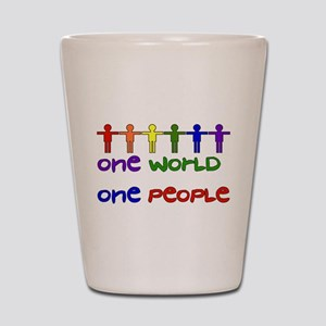 One World One People Shot Glass