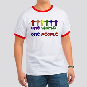 One World One People Ringer T