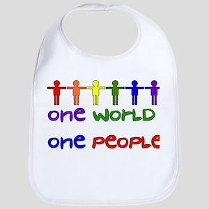 One World One People Cotton Baby Bib