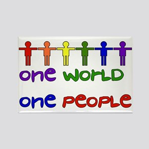 One World One People Rectangle Magnet