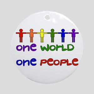 One World One People Round Ornament