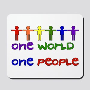One World One People Mousepad