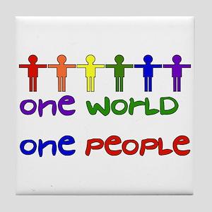 One World One People Tile Coaster
