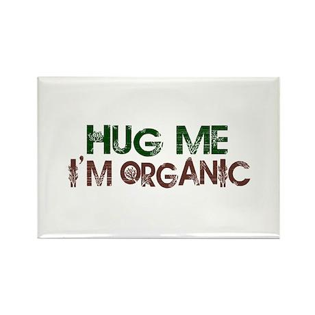 Hug Me I'm Organic Rectangle Magnet (100 pack)