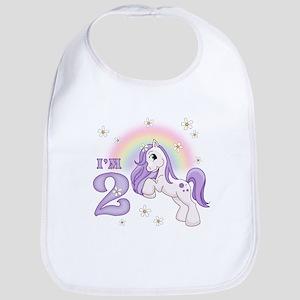 Pretty Pony 2nd Birthday Bib