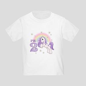 Pretty Pony 2nd Birthday Toddler T-Shirt