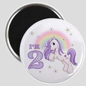 Pretty Pony 2nd Birthday Magnet