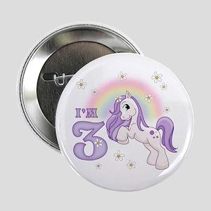 "Pretty Pony 3rd Birthday 2.25"" Button"