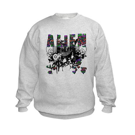 Alien Vector Design 42 Kids Sweatshirt